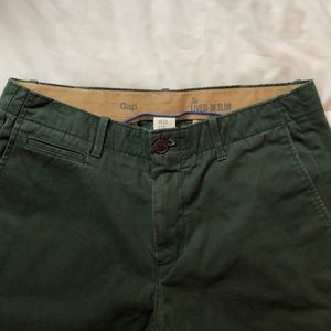 Gap Men's Lived-In Slim fit Khaki Green 32/32